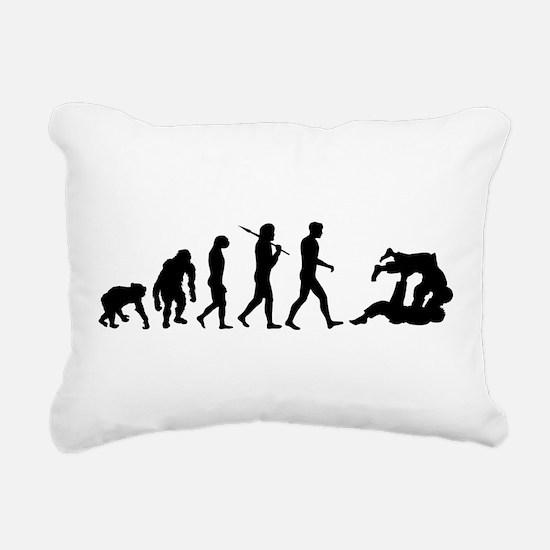 Evolution of Judo Rectangular Canvas Pillow