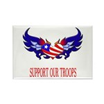 Support Our Troops Heart Flag Rectangle Magnet (1
