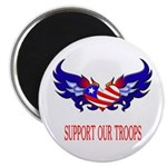 Support Our Troops Heart Flag Magnet