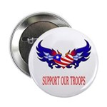 Support Our Troops Heart Flag Button