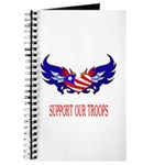 Support Our Troops Heart Flag Journal