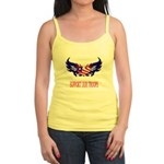 Support Our Troops Heart Flag Jr. Spaghetti Tank
