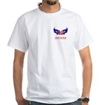 Support Our Troops Heart Flag White T-Shirt