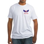 Support Our Troops Heart Flag Fitted T-Shirt