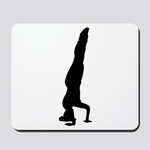 Headstand Silhouette Mousepad