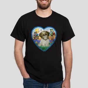 Shih Tzu in my heart (P) Dark T-Shirt