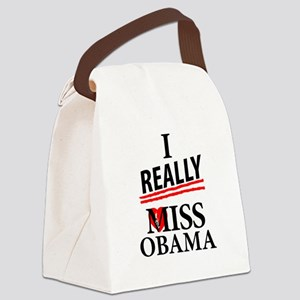 I Really Miss Obama Canvas Lunch Bag