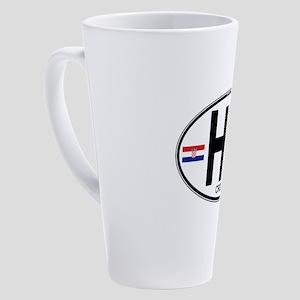 hr-oval 17 oz Latte Mug