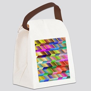 Articulated triangles Canvas Lunch Bag