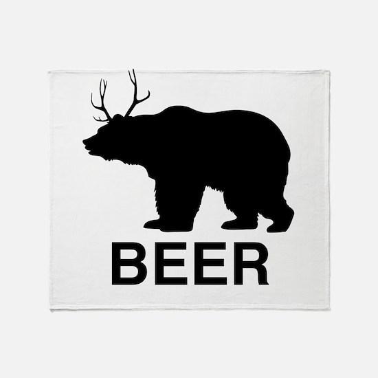 Beer Bear Throw Blanket