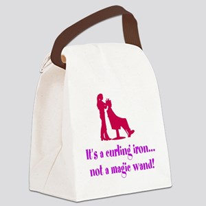 Funny Beautician Curling Iron Canvas Lunch Bag