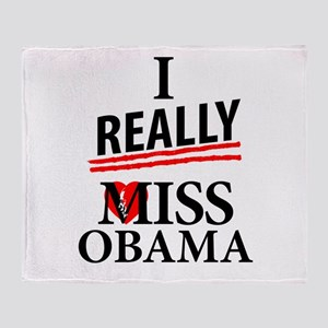 I Really Miss Obama Throw Blanket