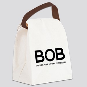 BOB The Man The Myth The Legend Canvas Lunch Bag