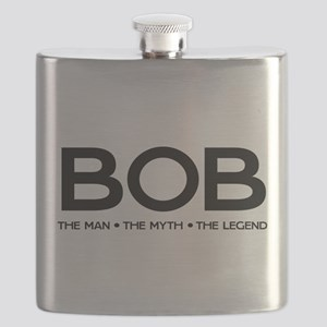BOB The Man The Myth The Legend Flask