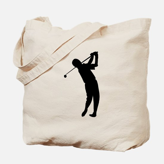 Golfer Silhouette Tote Bag