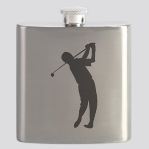Golfer Silhouette Flask