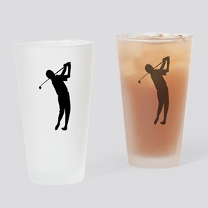 Golfer Silhouette Drinking Glass