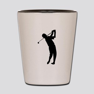 Golfer Silhouette Shot Glass