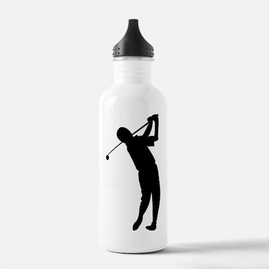Golfer Silhouette Water Bottle