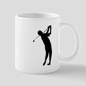 Golfer Silhouette Mugs