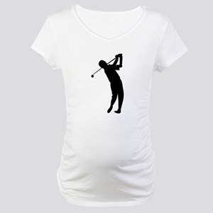 Golfer Silhouette Maternity T-Shirt