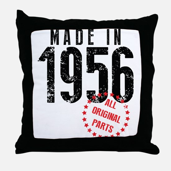 Made In 1956, All Original Parts Throw Pillow
