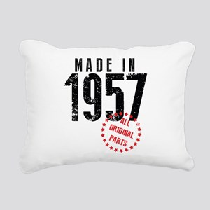 Made In 1957, All Original Parts Rectangular Canva