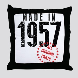 Made In 1957, All Original Parts Throw Pillow