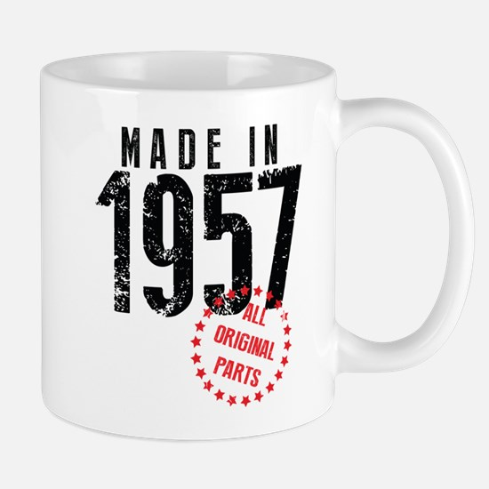 Made In 1957, All Original Parts Mugs