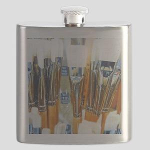Paintbrushes Flask