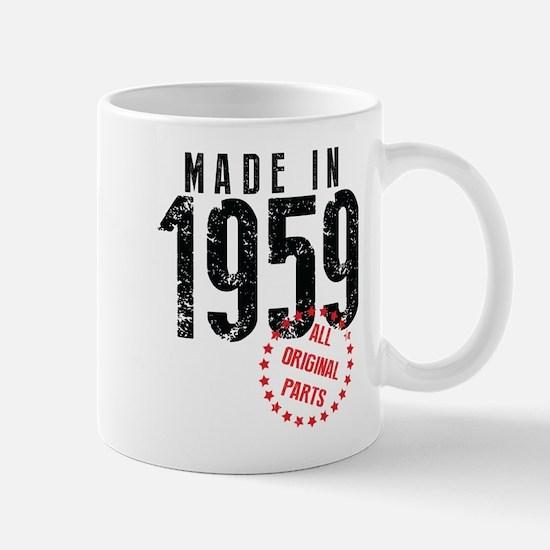 Made In 1959, All Original Parts Mugs