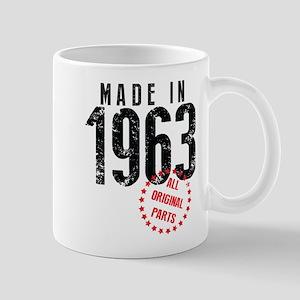 Made In 1963, All Original Parts Mugs