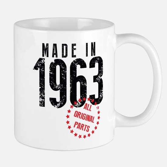 Made In 1963, All Original Parts Mugs