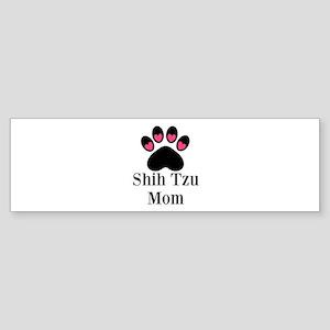 Shih Tzu Mom Paw Print Bumper Sticker