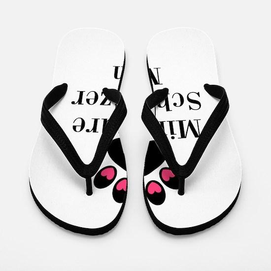 Miniature Schnauzer Mom Flip Flops