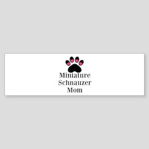 Miniature Schnauzer Mom Bumper Sticker
