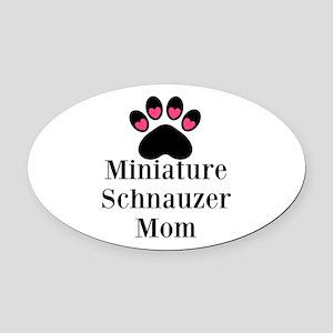 Miniature Schnauzer Mom Oval Car Magnet