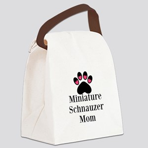 Miniature Schnauzer Mom Canvas Lunch Bag