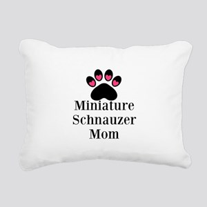 Miniature Schnauzer Mom Rectangular Canvas Pillow