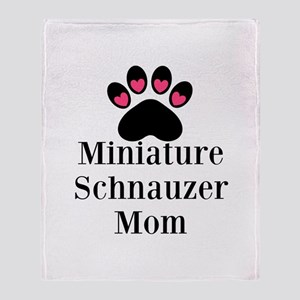 Miniature Schnauzer Mom Throw Blanket