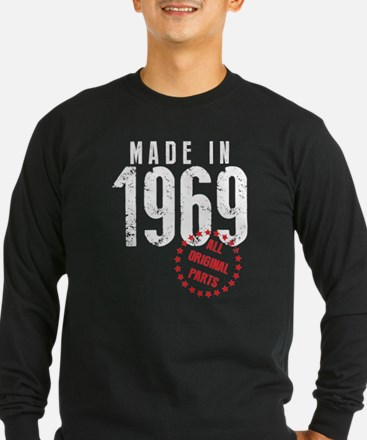 Made In 1969, All Original Parts Long Sleeve T-Shi