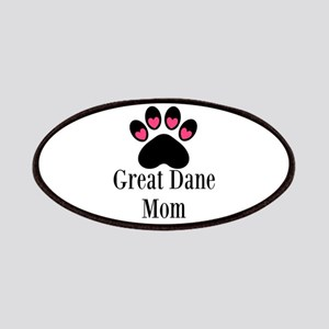 Great Dane Mom Paw Print Patches