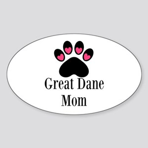Great Dane Mom Paw Print Sticker