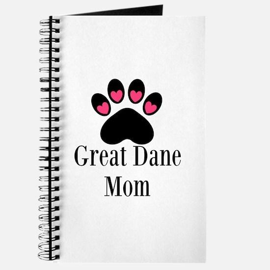 Great Dane Mom Paw Print Journal