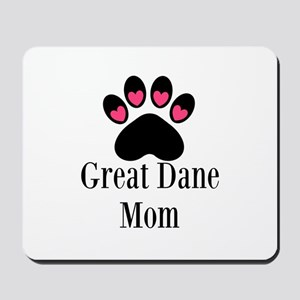 Great Dane Mom Paw Print Mousepad