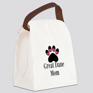 Great Dane Mom Paw Print Canvas Lunch Bag