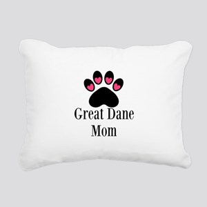 Great Dane Mom Paw Print Rectangular Canvas Pillow
