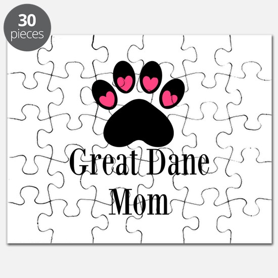 Great Dane Mom Paw Print Puzzle