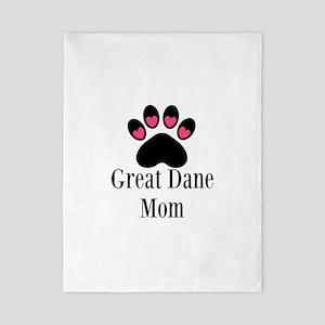 Great Dane Mom Paw Print Twin Duvet