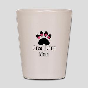 Great Dane Mom Paw Print Shot Glass